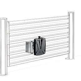 963+0119+013, SlatWall Support Carriage TSS, silver/anthracite